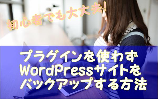 プラグインを使わずにワードプレスサイトをバックアップする方法